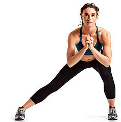 Side lunges for ski fitness