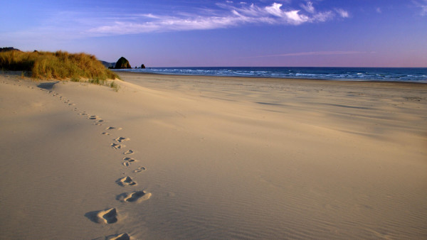 Walking the beach is good exercise for your feet