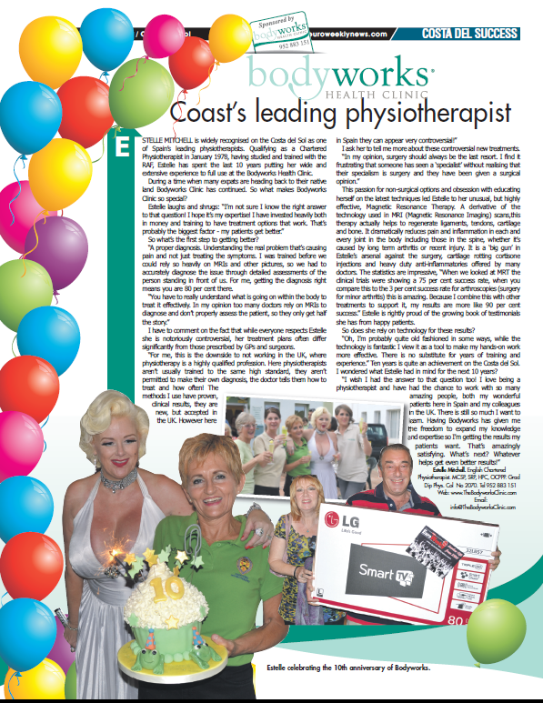 Euro Weekly News - Coast's Leading Physiotherapist