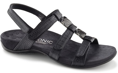Vionic Orthotic Sandal - Amber in black