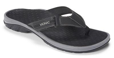 Vionic Orthotic Sandal for men - Harbour in black