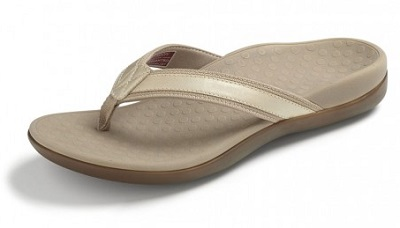 Vionic Orthotic Sandals - Islander in gold