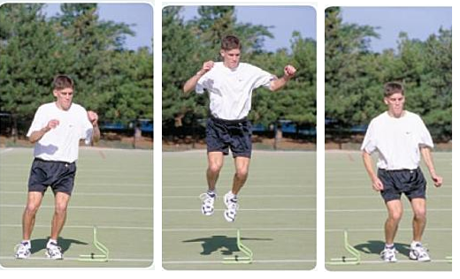 Lateral Towel Jump for ski fitness