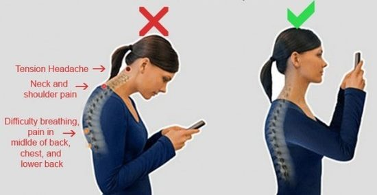 Watch your posture when using your smartphone