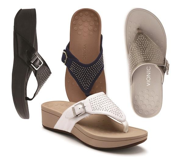 Vionic Capitola Flip Flop with heel