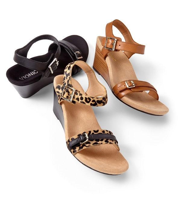 Vionic Laurie Wedge Sandals