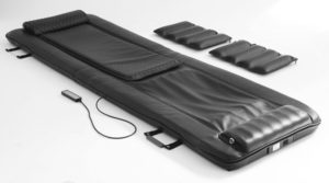 The Mobiliser system with remote control and 2 x 5 kg weights travel case not shown)