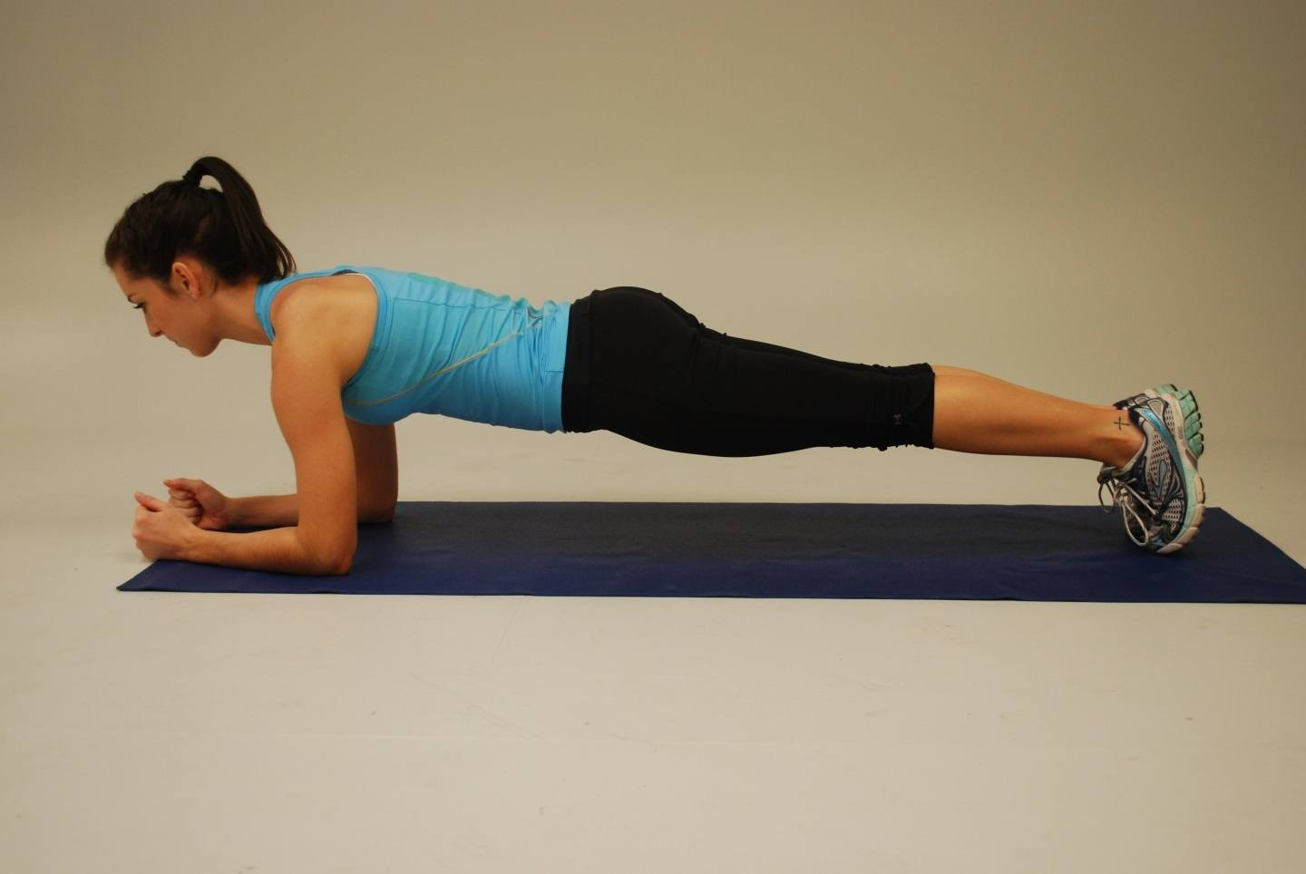 Plank works your core without the risk