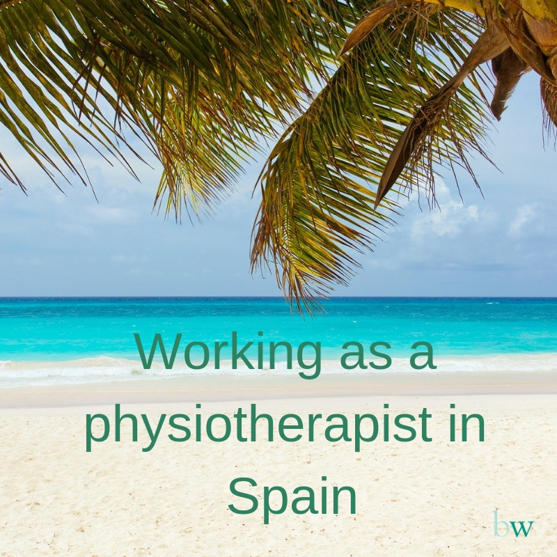 Working as a physiotherapist in Spain