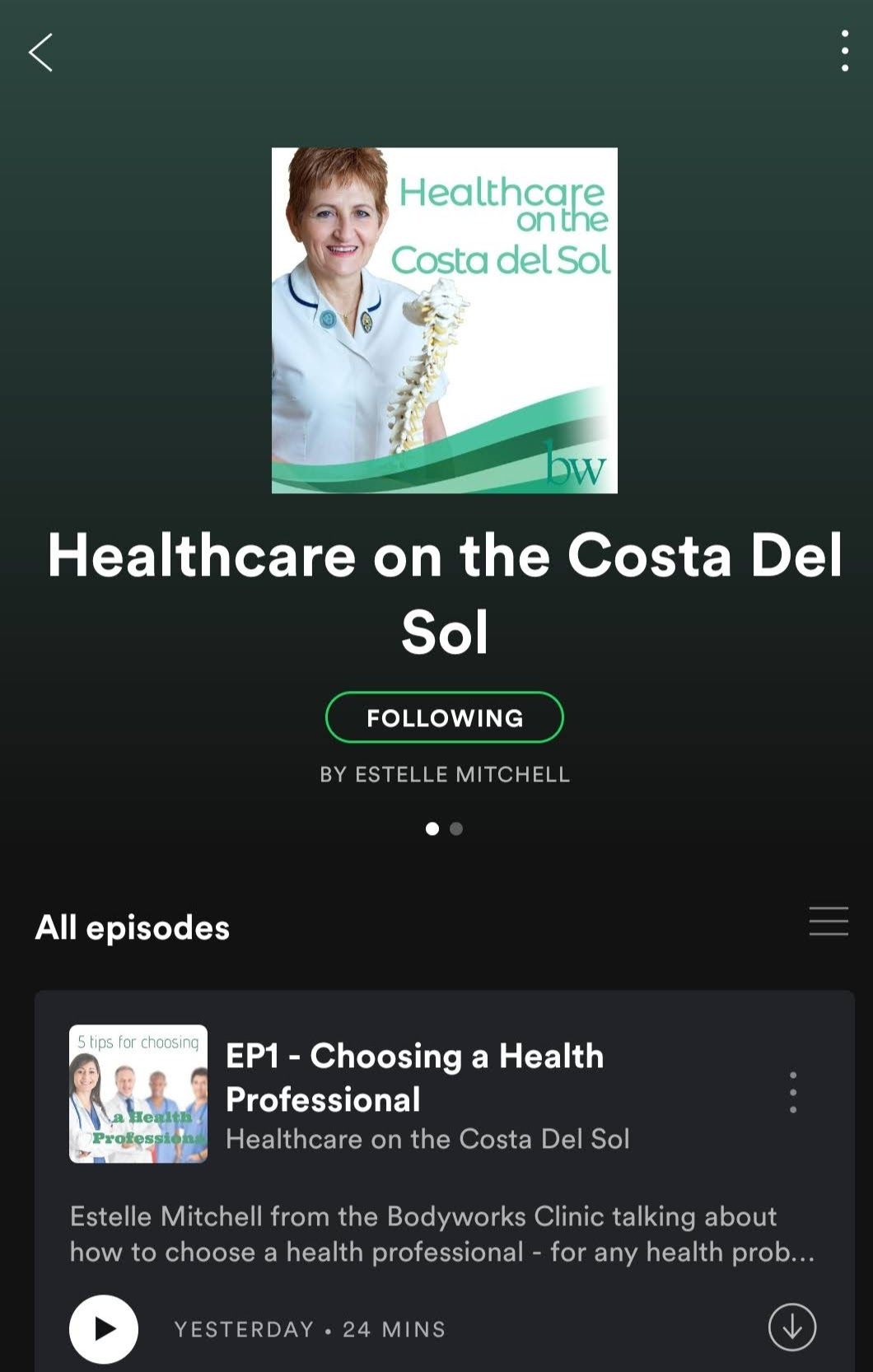 Podcast Healthcare on the Costa del Sol on Spotify
