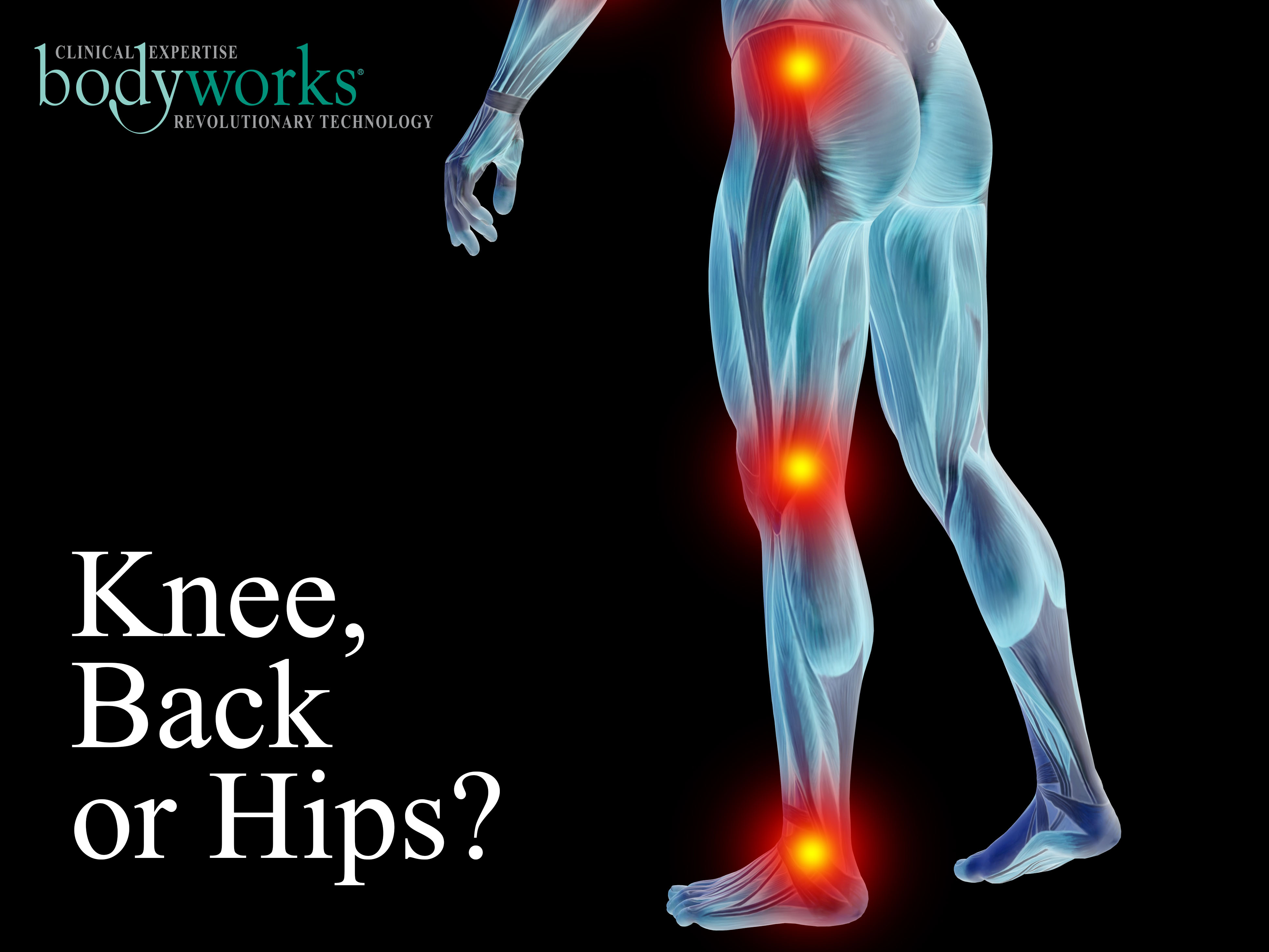 Knee Back Hip - referred pain. Consultant Estelle Mitchell at Bodyworks