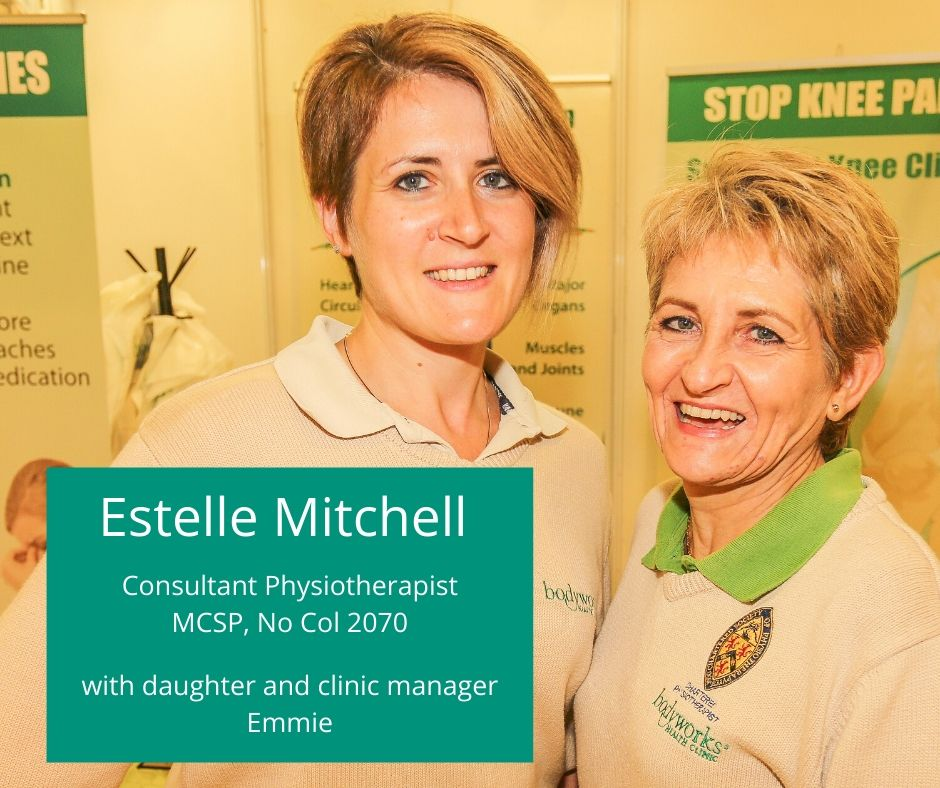 Consultant Physiotherapist Estelle Mitchell from Bodyworks Clinic with daughter and Patient Care Coordinator Emmie