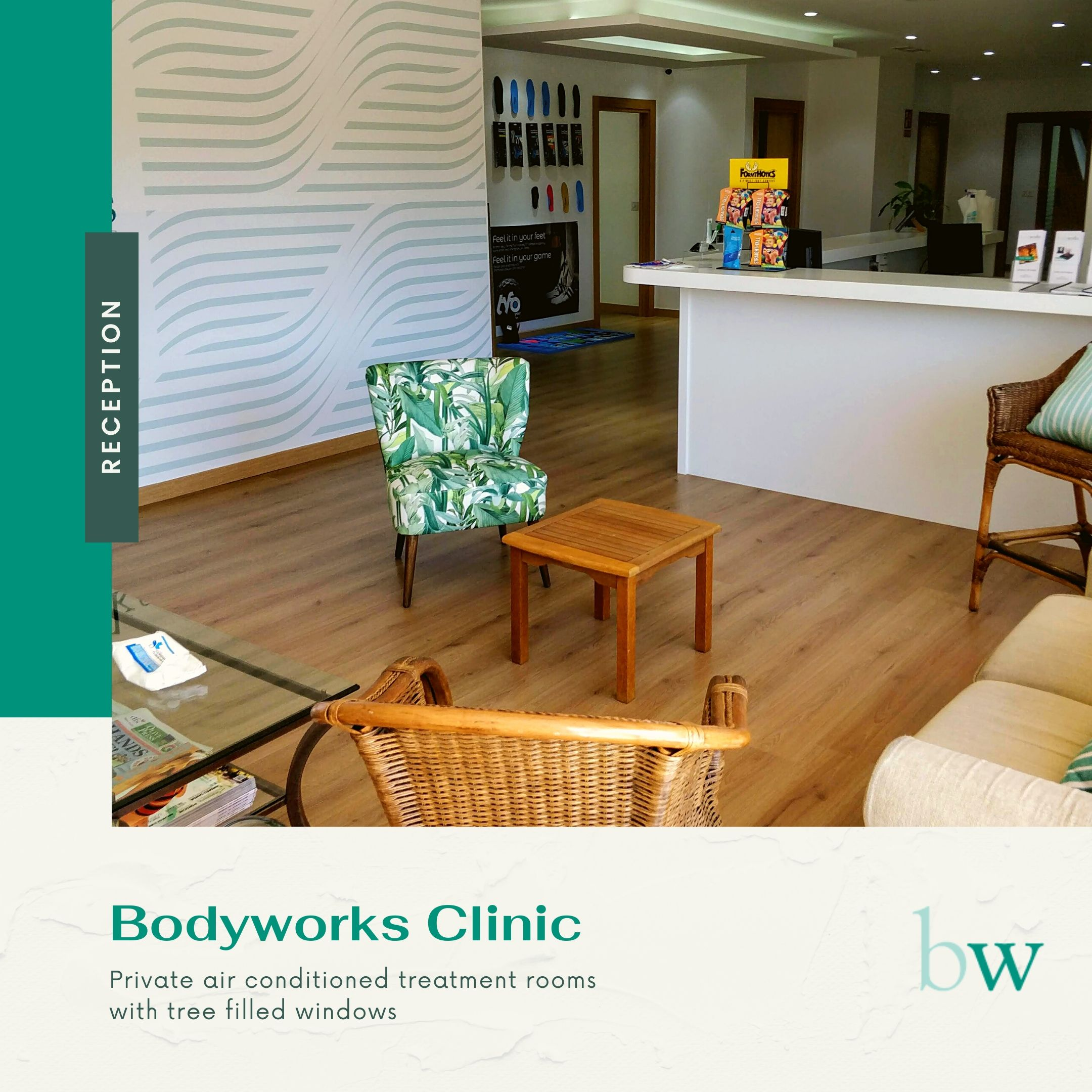 Reception at Bodyworks Clinic Marbella